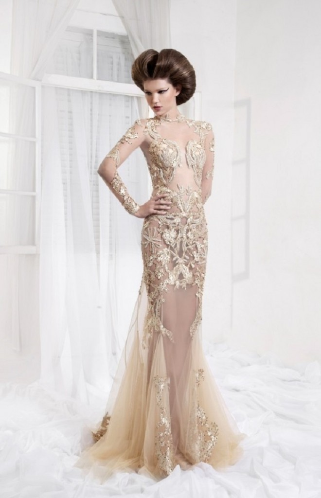 beige party wear cocktail dresses and gowns