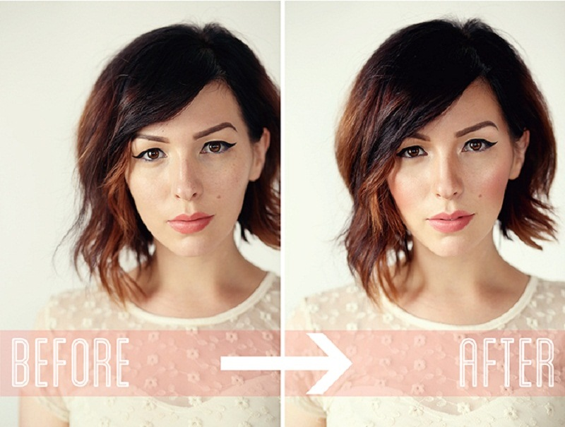perfect blush on makeup_before and after