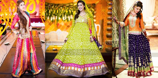 Pakistani Mehndi Dresses 2019 For Wedding Brides