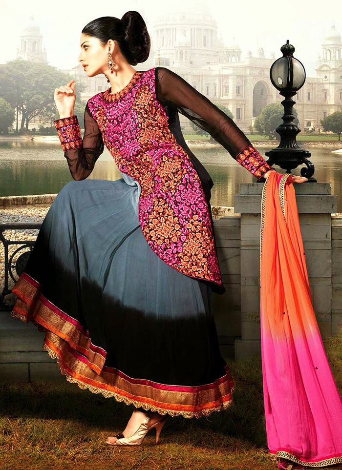fancy jacket style party wear indian frocks