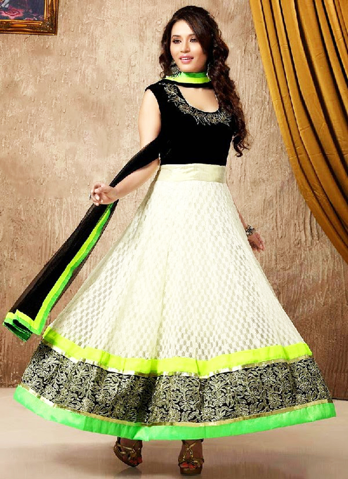 pakistani anarkali style party wear dresses