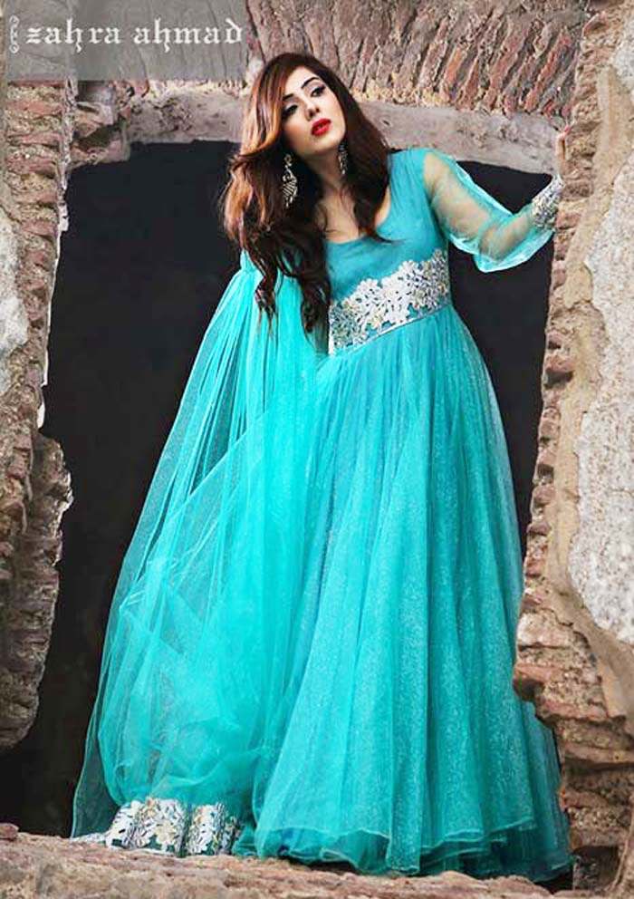 zahra ahmad party wear pakistani dresses