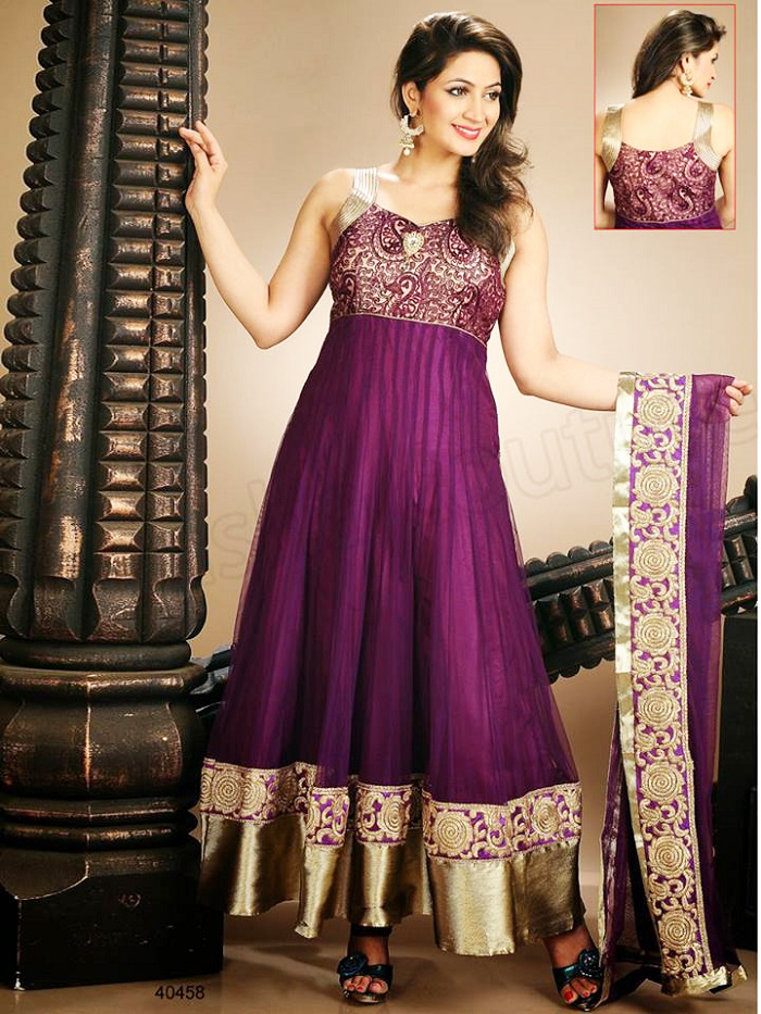 indian party wear net frock designs