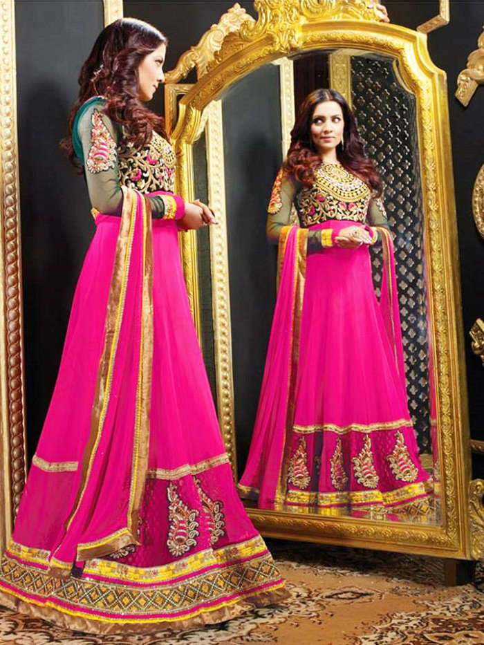 stylish long indian party wear frocks