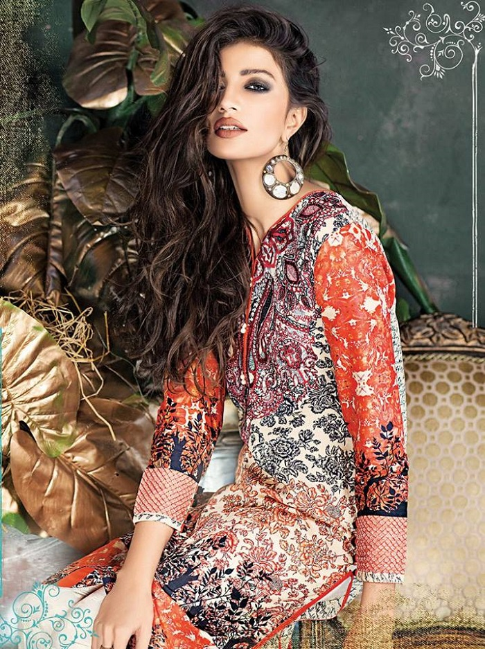 Orange 3-piece design by ethnic Outfitters