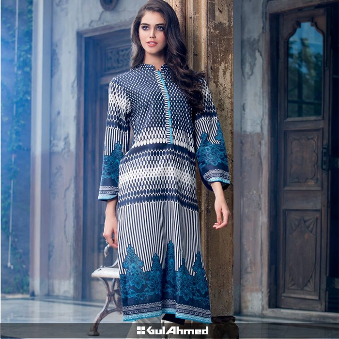 Gorgeous Gul Ahmed Black and White Winter Apparel