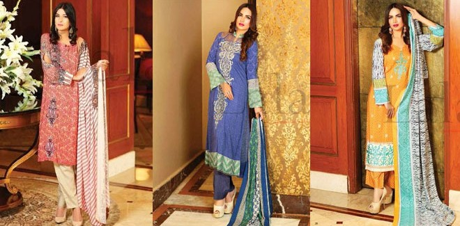 Lala Textiles Classic Linen Embroidered Winter Collection 2019