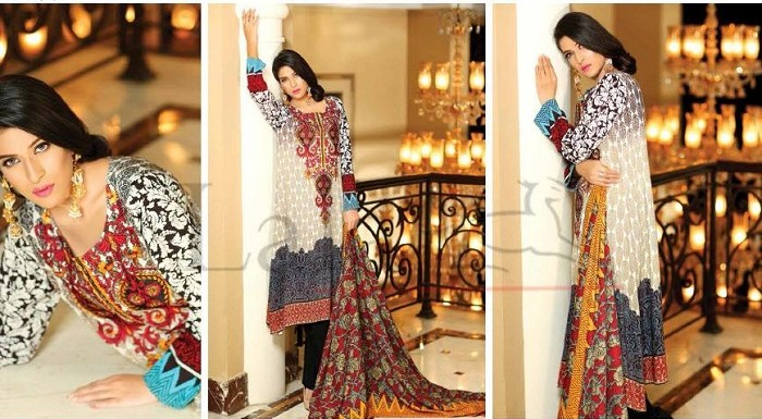 Elegant Lala Textiles Classic Linen Embroidered Winter Collection