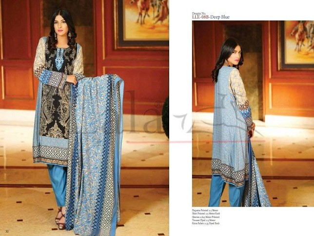 Lala Textiles Classic Linen Embroidered Winter Collection