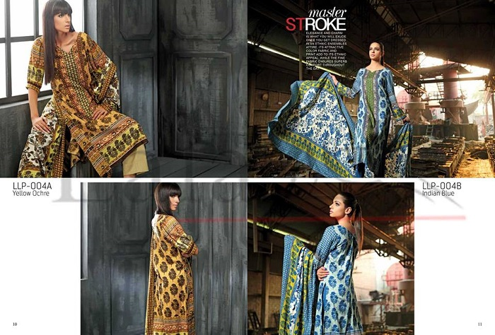 Chic trendy Lala Textiles Classic Linen Embroidered Winter Collection 2017