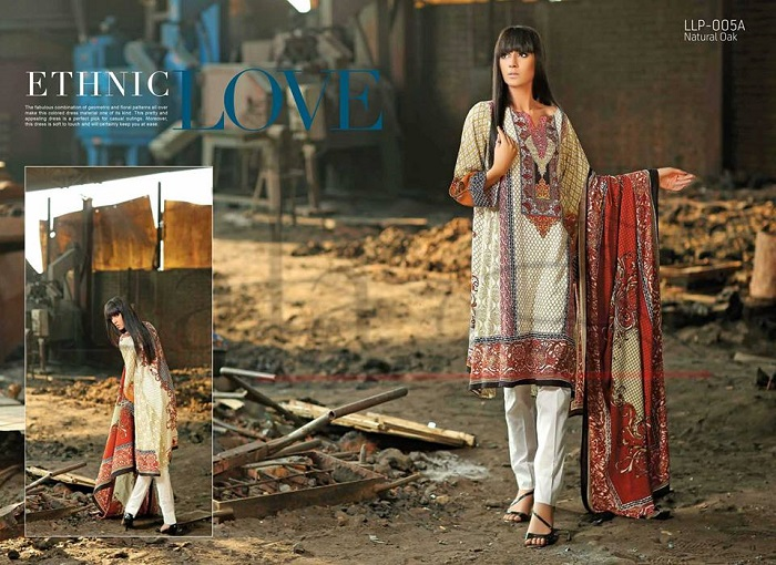 Gorgeous Lala Textiles Classic Linen Embroidered Winter Collection 2017