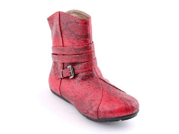Red chic Stylo Shoes New Winter Boots Collection For Women 2017