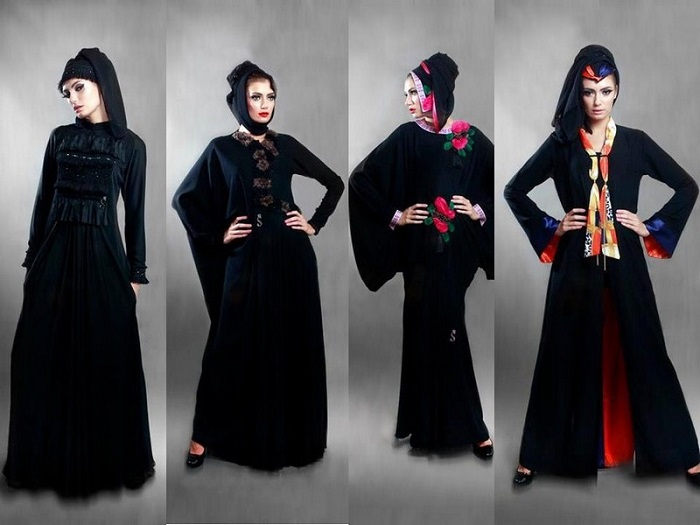 Black Stylish Party Wear Formal Abaya 2017