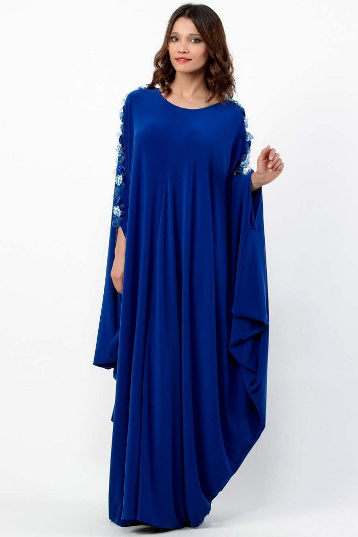 Blue Stylish Party Wear Formal Abaya 2017