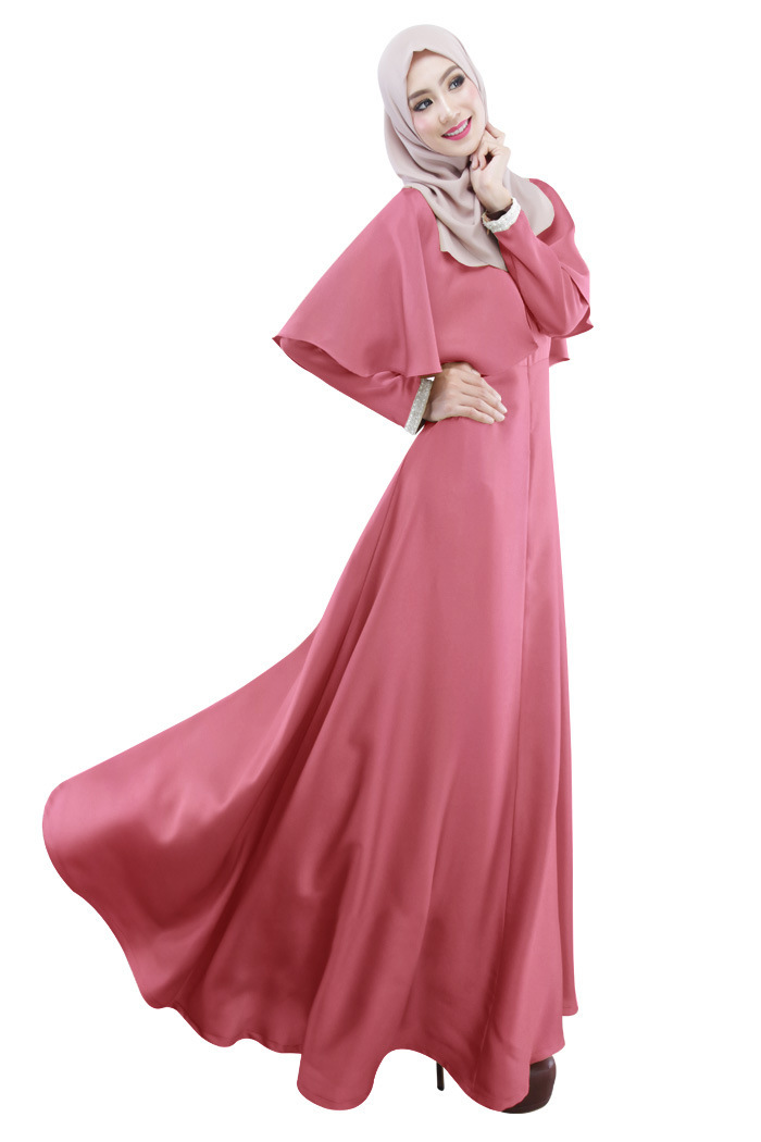 Peachy pink Stylish latest design Party Wear Formal Abaya 2017