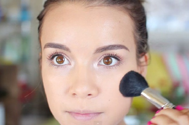 light color blush on for party makeup