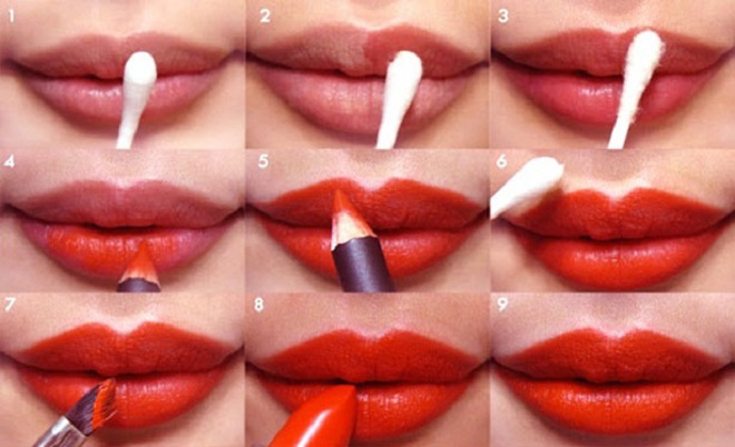 red lip color party makeup