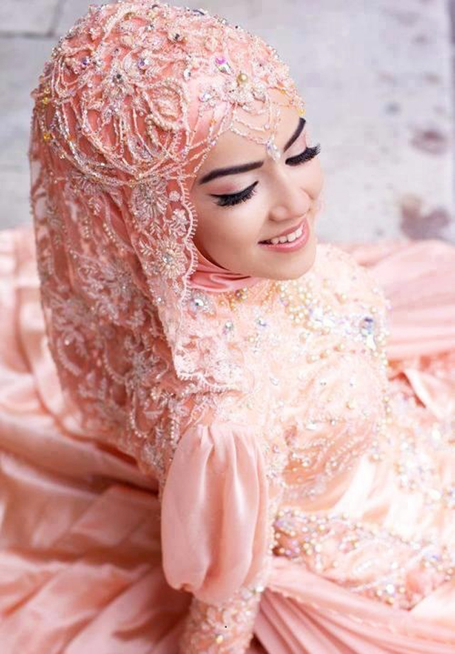 Wedding Hijab Style For Brides
