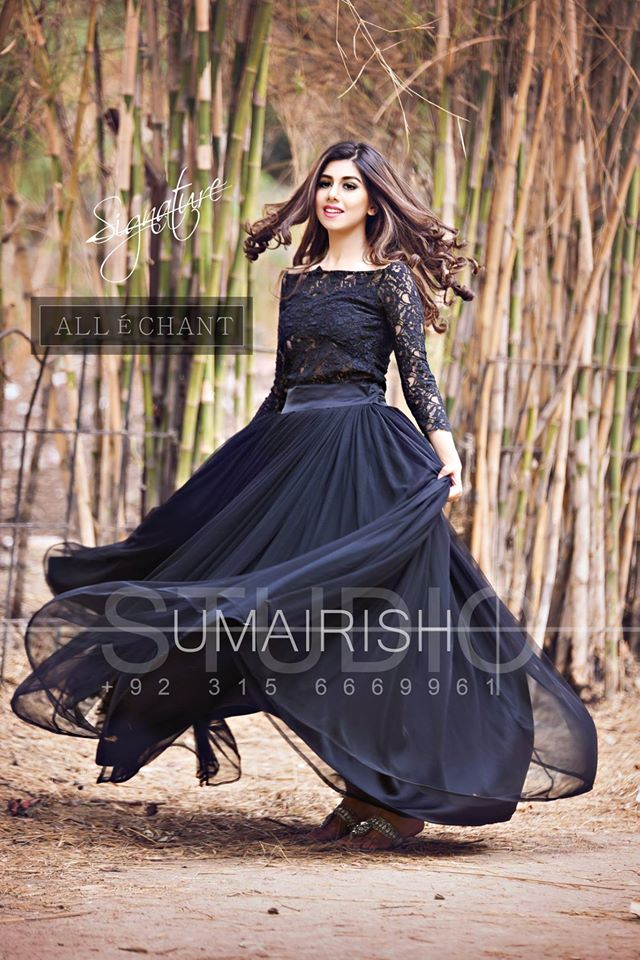 67c2a70e39 Pakistani Dresses and Frocks for Wedding Allechant Black Net Frock