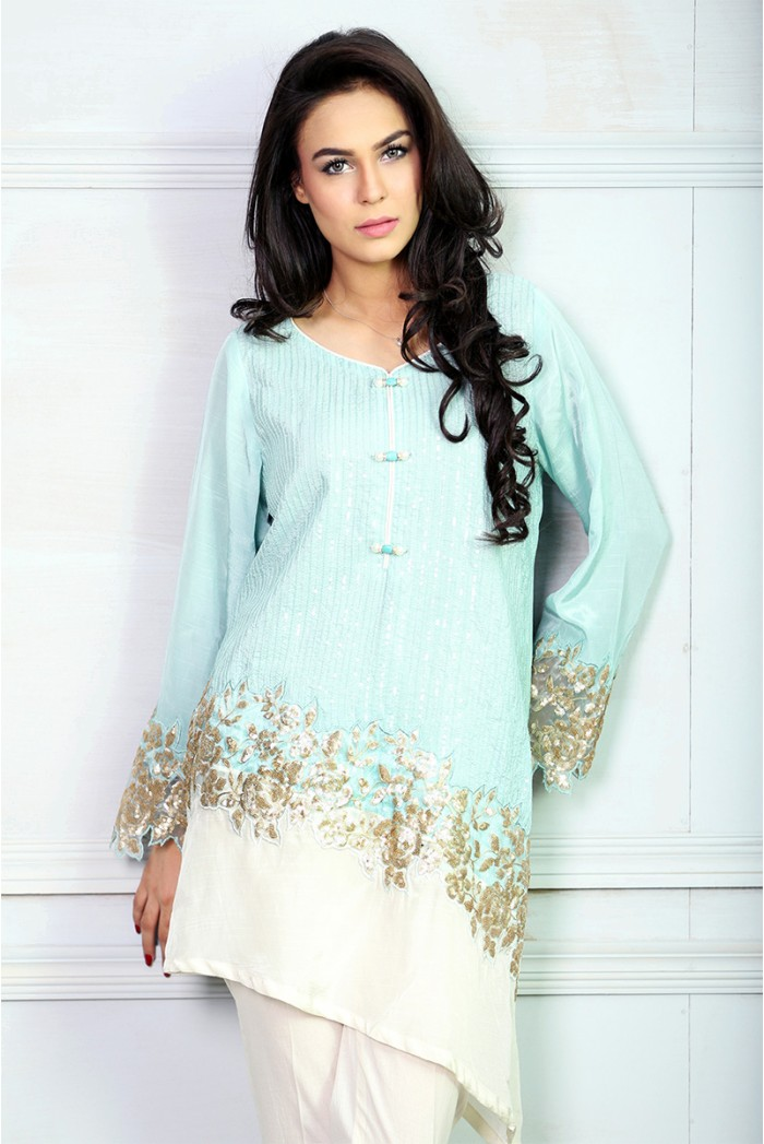 Maria B Aqua Top For Eid
