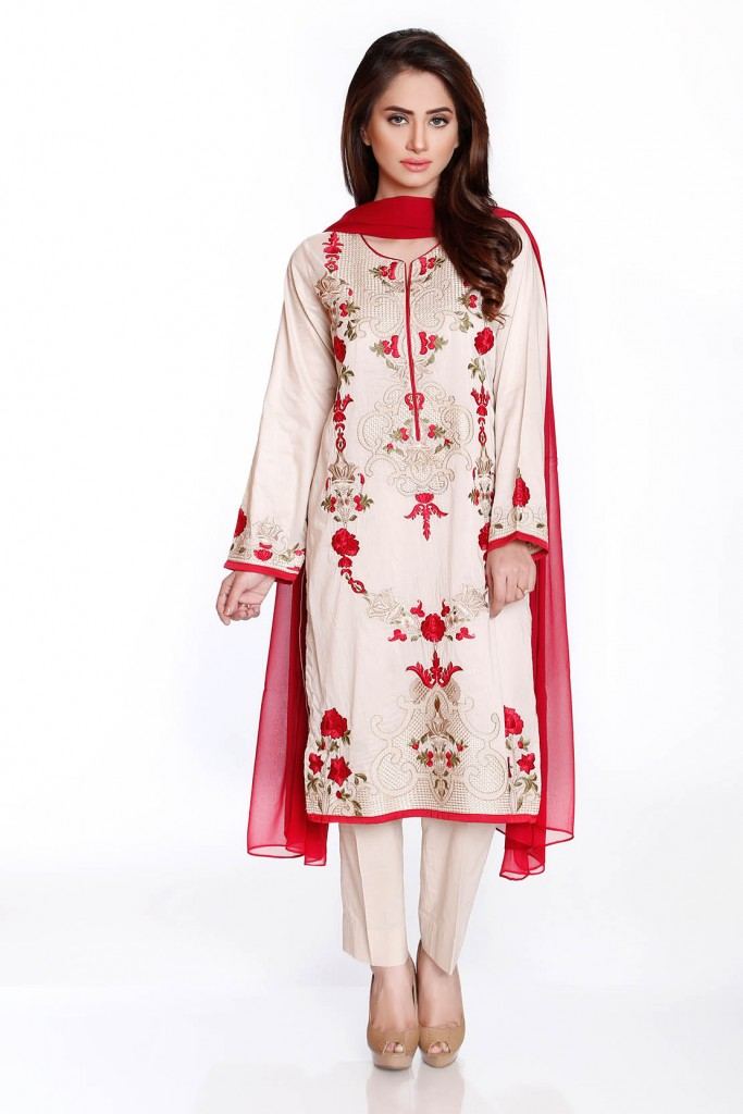 Chinyere Fancy Victorian Dress Latest Eid Collection 2016