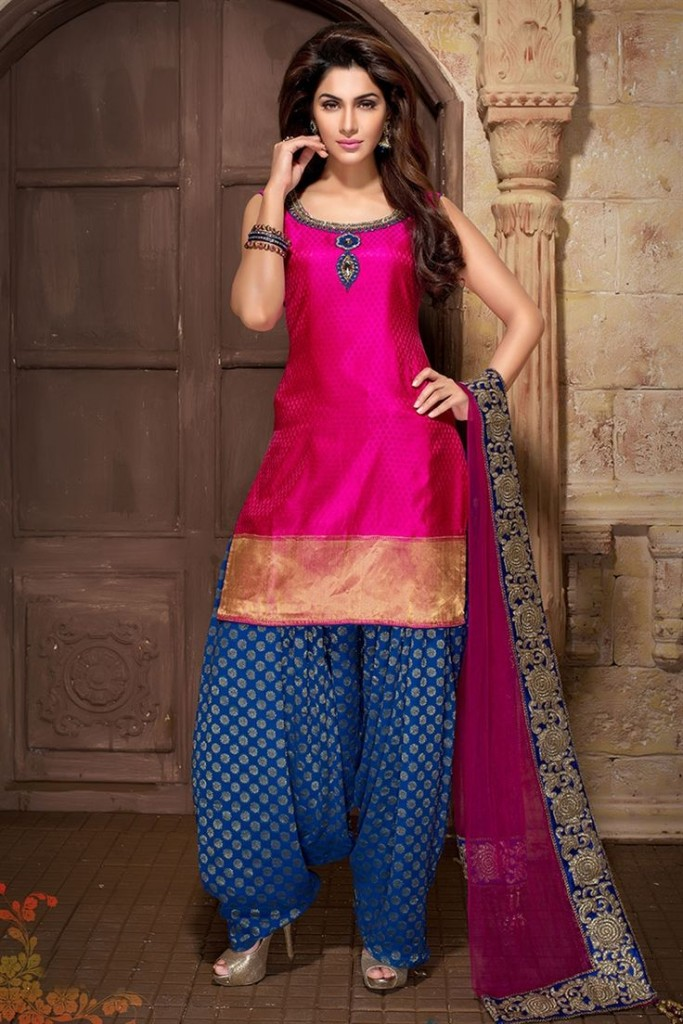 Indian Party Wear Shalwar Kameez Pink Dress