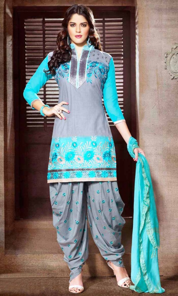 Indian Party Wear Shalwar Kameez Blue Attire