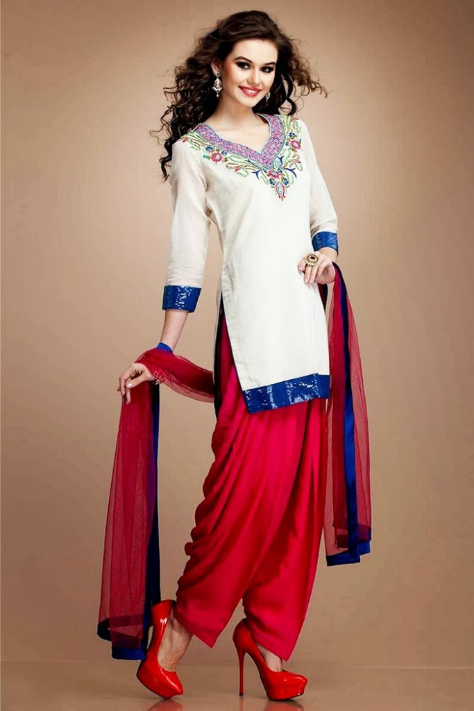 Indian Party Wear Shalwar Kameez White Outfit