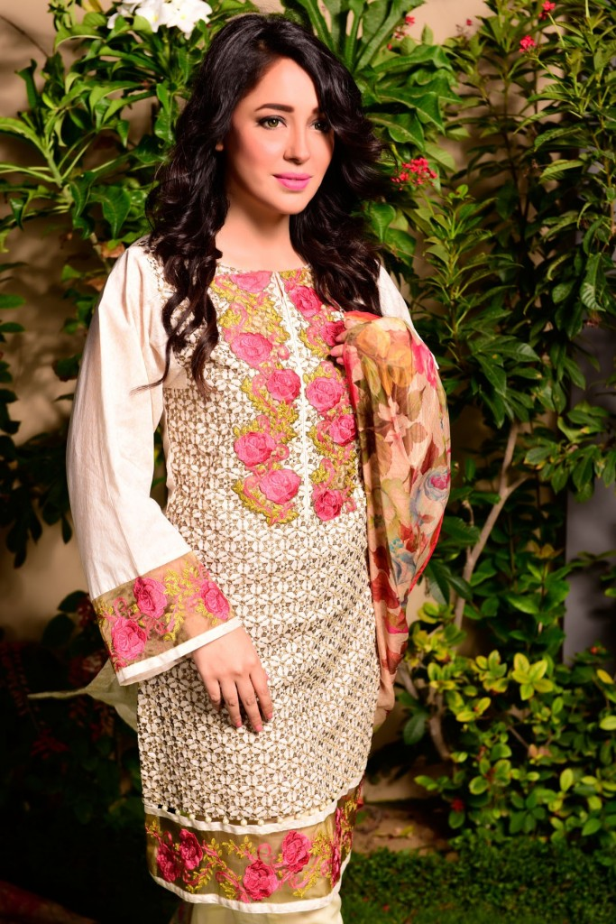Satrangi Rose Embroidered Eid Outfit