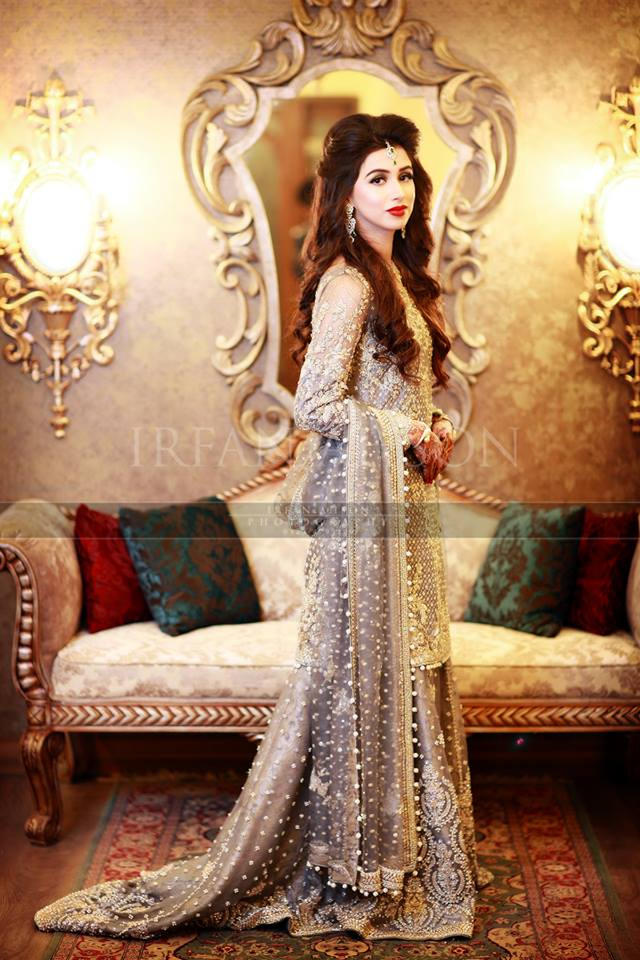 Pakistani Boutique Style Longtail Fancy Boutique Lehenga Dress for Wedding