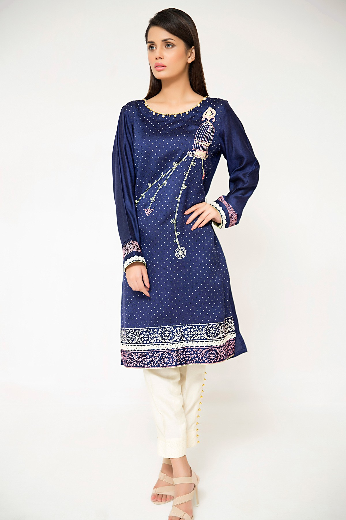 Sana Abbas Twillight Blue Dress for Eid