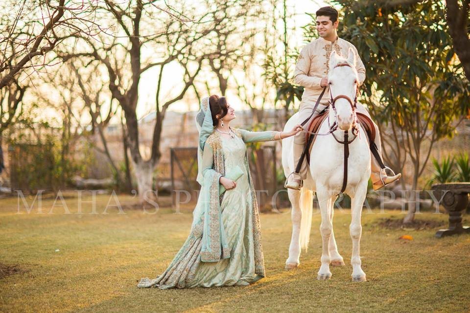 Traditional Pakistani Couple Wedding Dresses