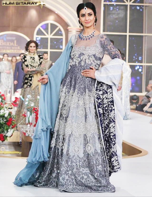 Fancy Grey Maxi Dress by HSY Bridal Collection