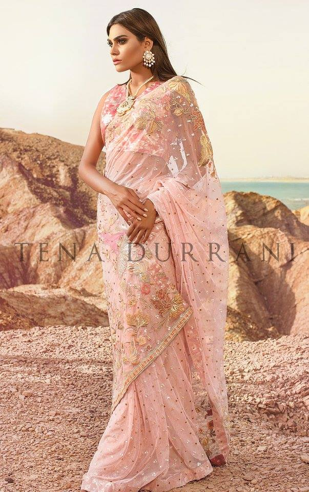 Palace Rose Sari Tena Durrani Collection