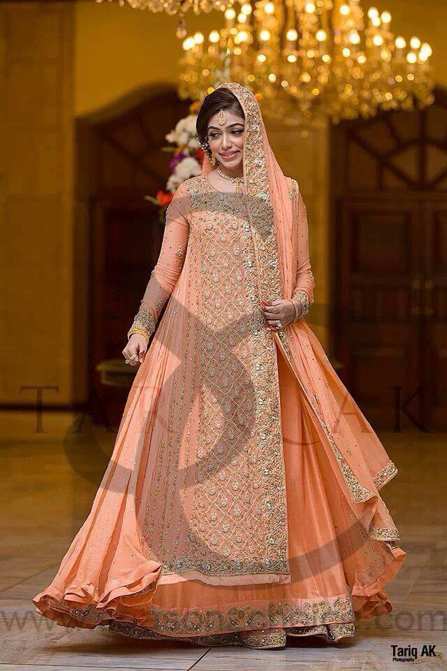 angrakha style winter bridal dress