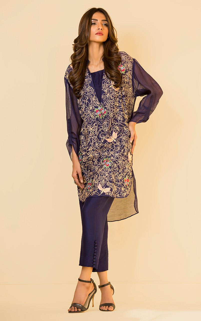 embroidered silk tunic for wedding party