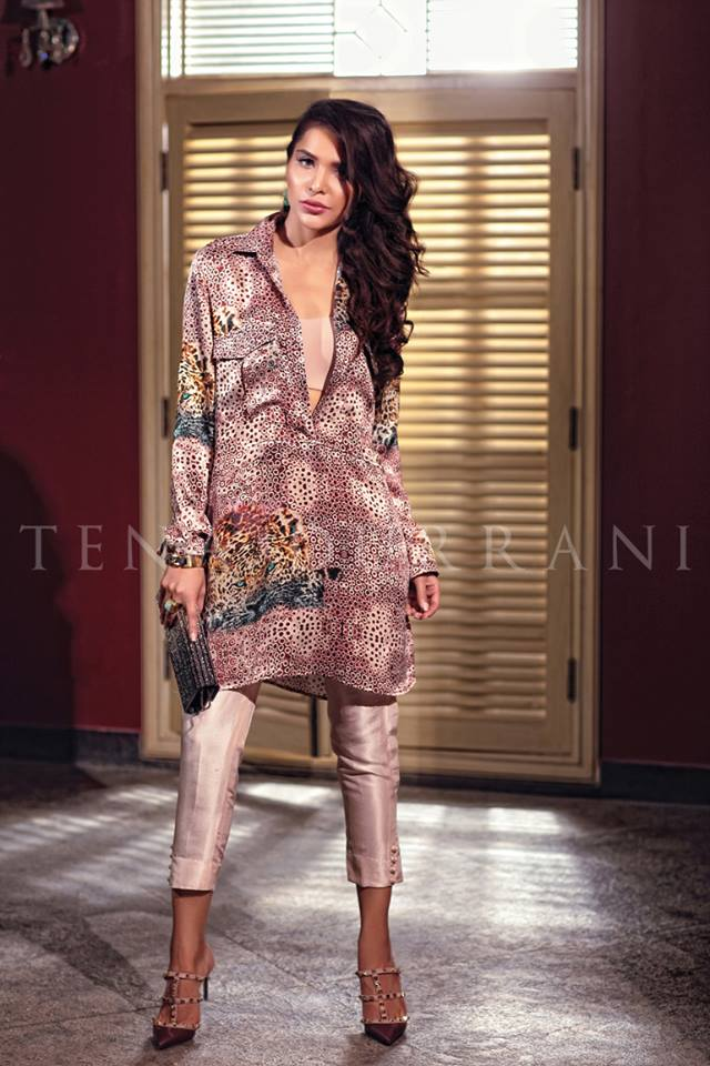 tena durrani mid summer silk tunic with capri