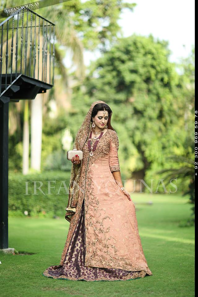 tea pink floor length frock with open front