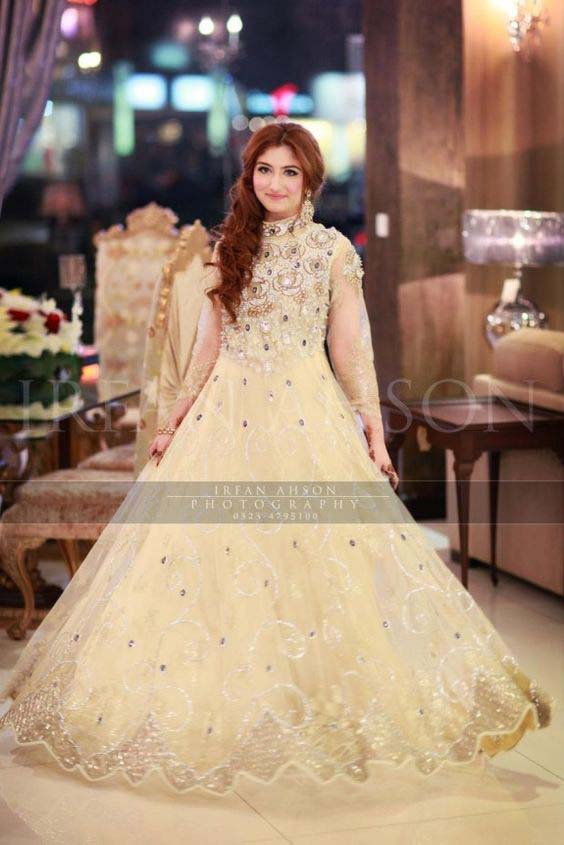 wedding wear elegant barbie white net frock