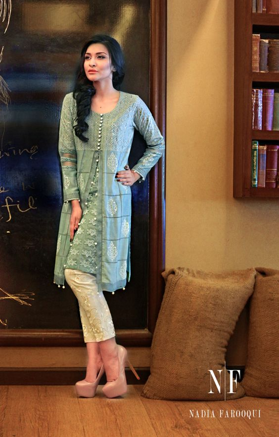 Nadia Farooqi open gown style dress with capri