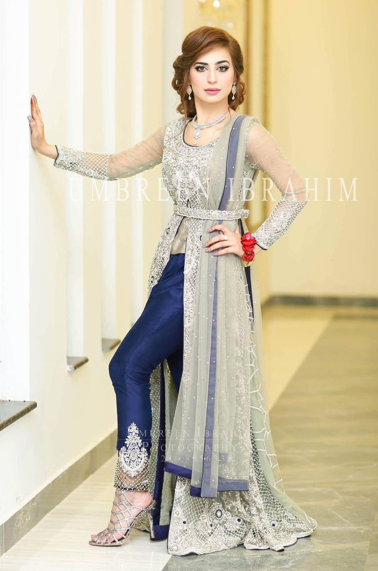 pakistani waist belt dresses wedding wear