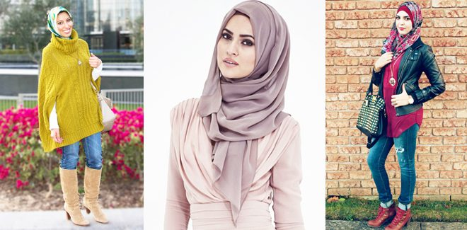 Latest Winter Hijab Styles For Pakistani Girls 2018