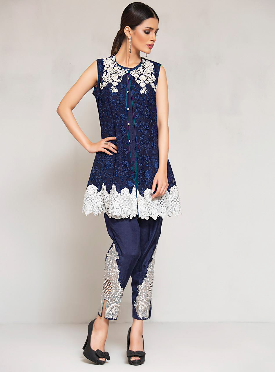 Zainab Chottani New Formal Dresses Deep Blue