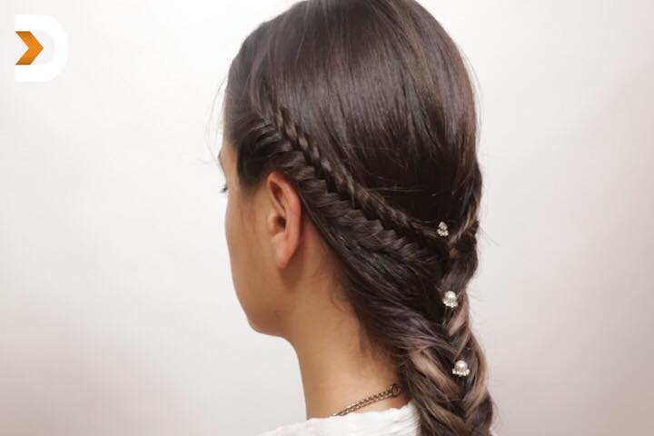 Beads Style Braid Eid Hairstyle