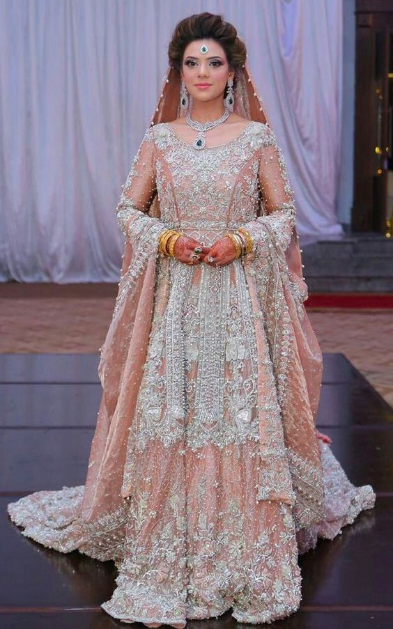 Peach Lehnga Bride and groom Collection