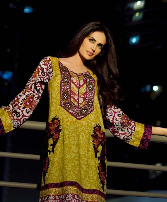 HSY Summer Lawn Collection Green Embroidered dress