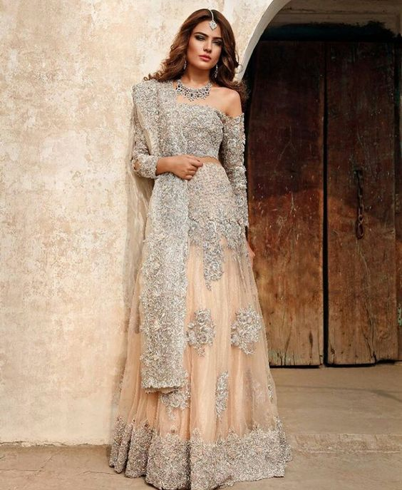 Orange and Grey Combo walima Collection