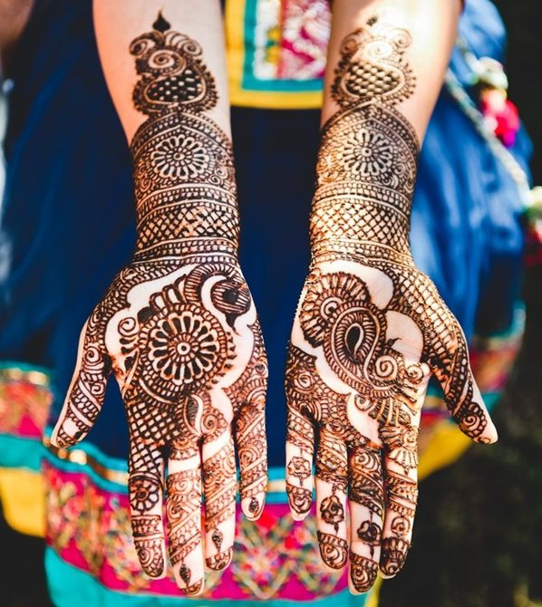 bridal eid mehndi design for full hands