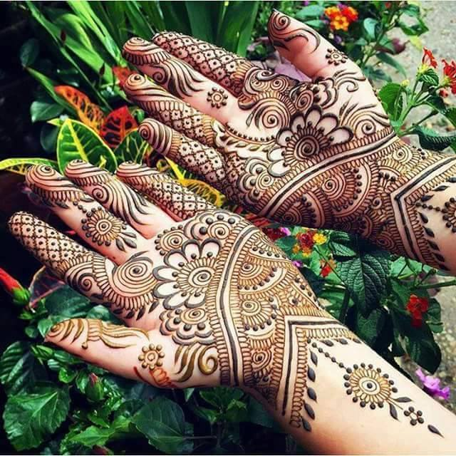Petal Wedding Mehndi Design for hands