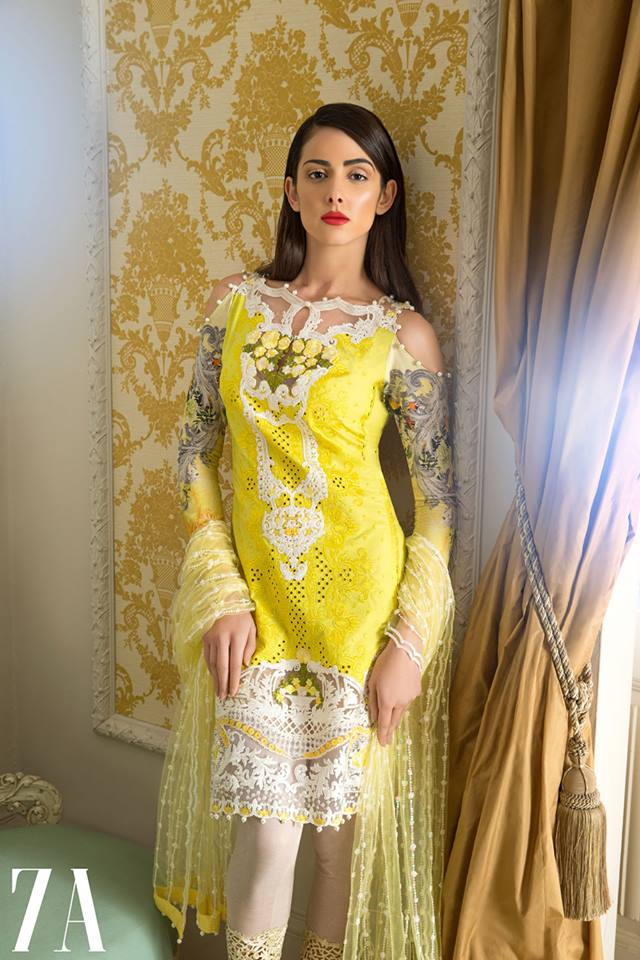 Sobia Nazir Yellowish Latest Eid Collection